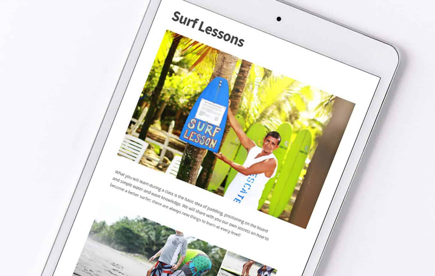 Graphiclagoon surf_lessons2 Web Design