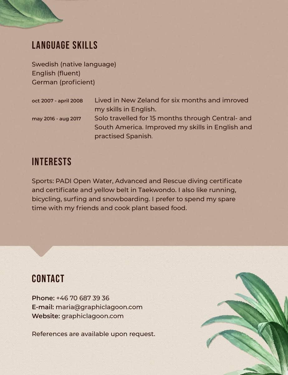 Graphiclagoon Resume_Maria_Ericsson_page3 Resume